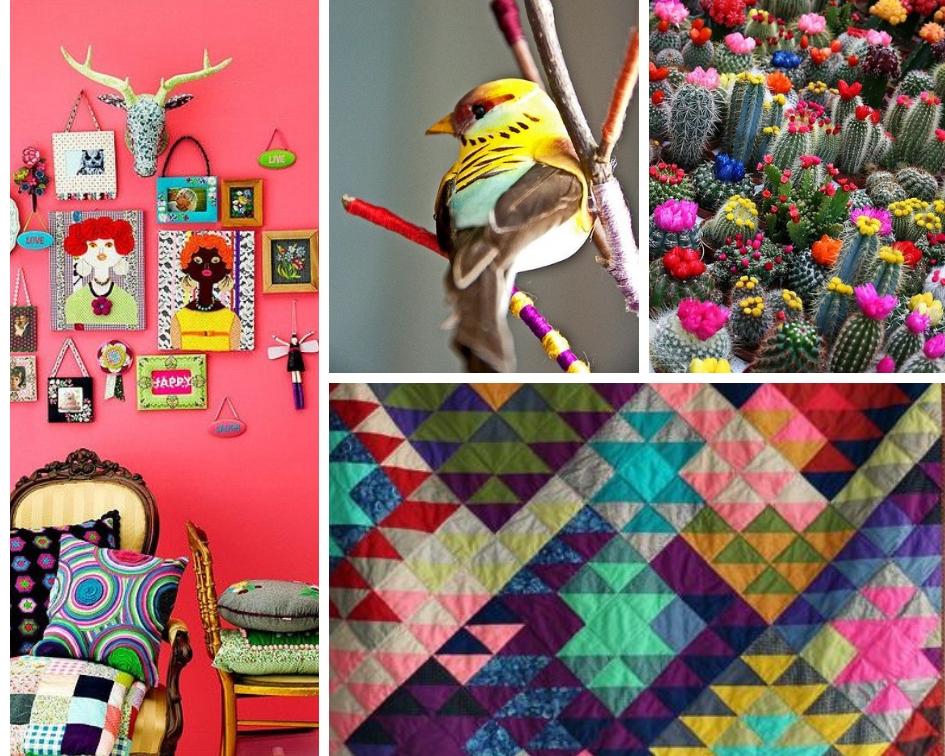 room ,  bird ,  cactus ,  Blue Elephant Stitches quilt