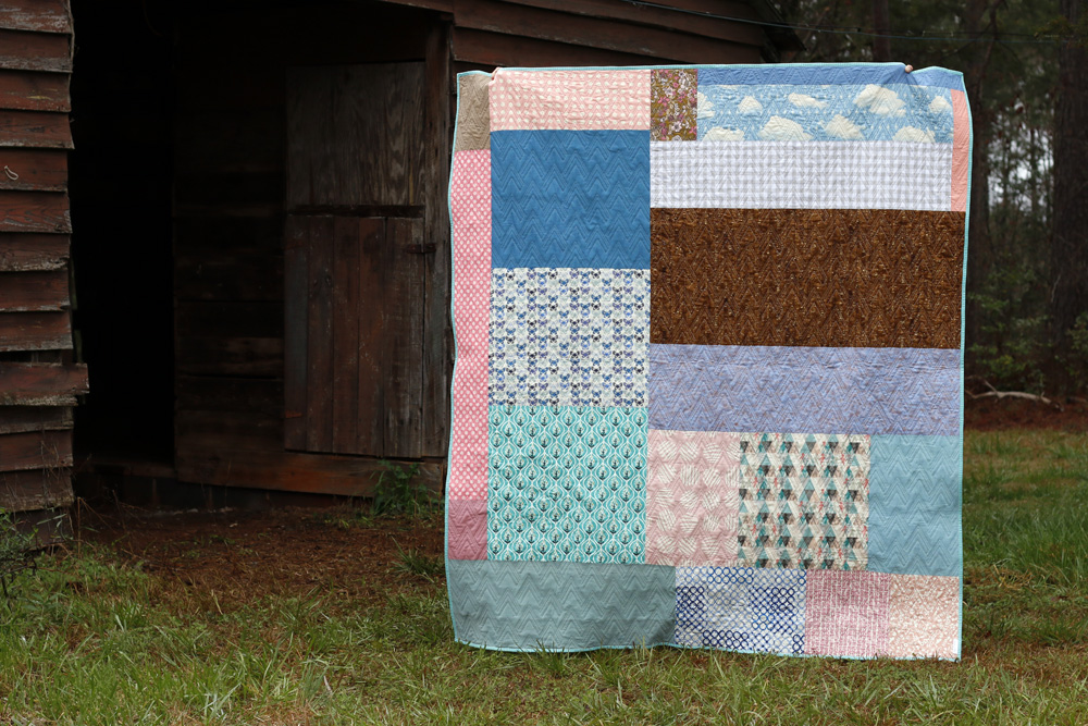 Spring patchwork quilt back. Stitched in Color.jpg
