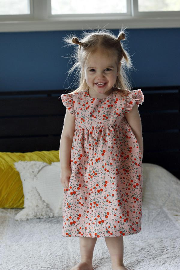 Flutter Sleeve Geranium Dress. Stitched in Color.jpg