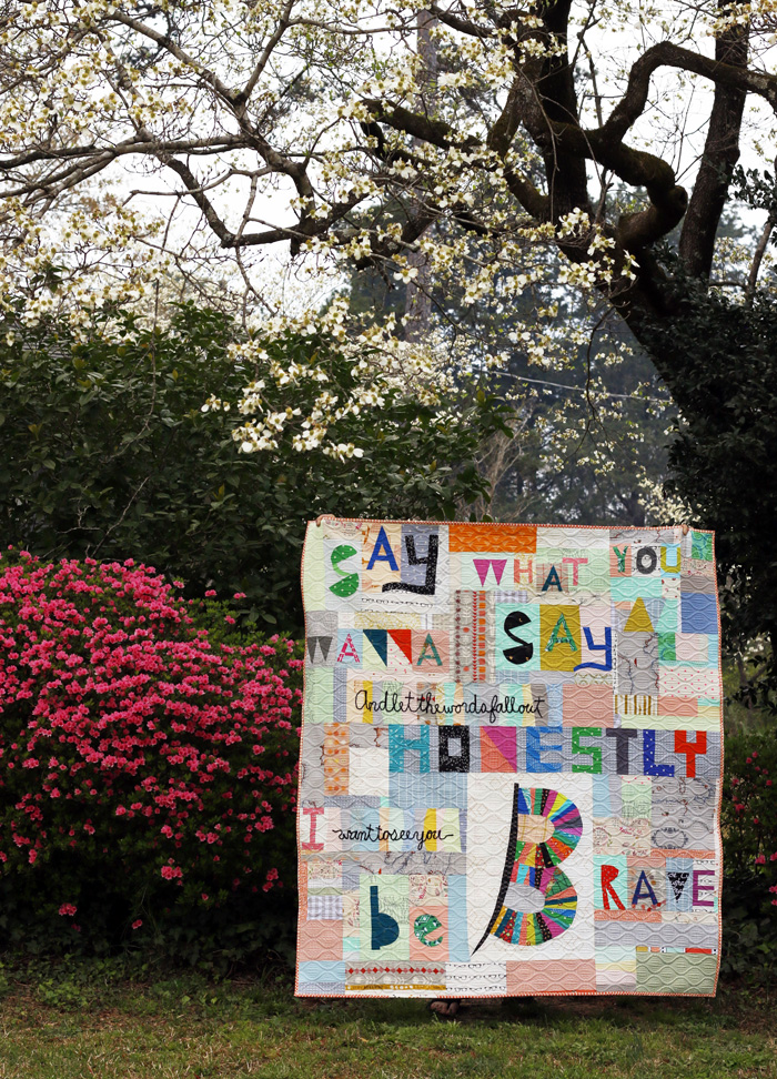 Say What You Wanna Say quilt. Stitched in Color.jpg