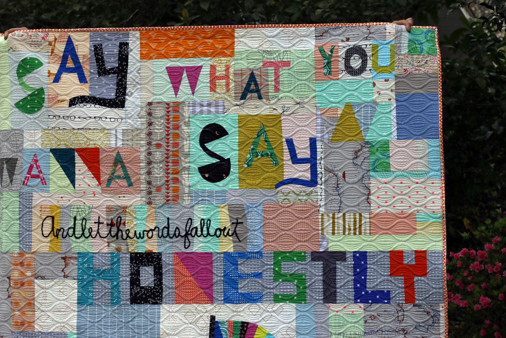Improv word quilt. Stitched in Color.jpg