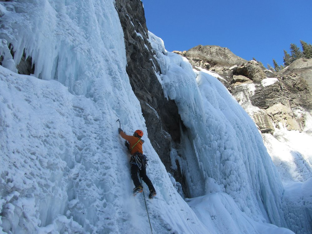 Winter on Ice - Waterfall Ice Climbing