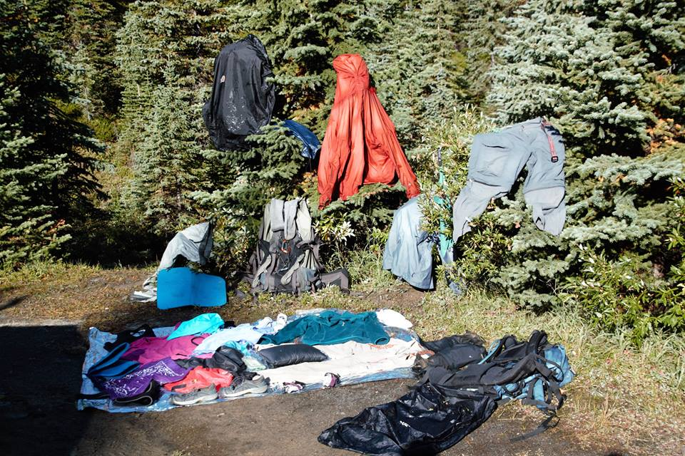 Frozen belongings. Photo Susan Dack