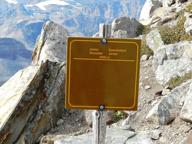 Jonas Shoulder, the highest point on our journey at 2,450 m. Photo Van J. Konrad