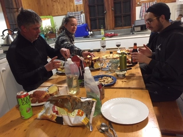 After a full day of climbing we had a wonderful potluck dinner together at the hostel. Storey telling and climbing tales were exchanged all evening.