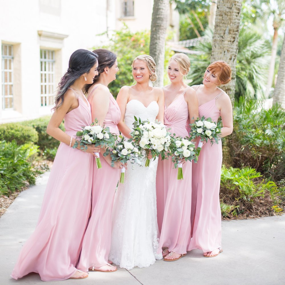 Powel Crosley Estate | Wedding | Pink and Gold Wedding | Bridesmaids Dresses | Sarasota Weddings | Spring Wedding | Jess Anne Photography