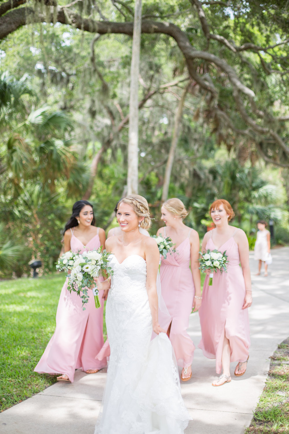 Powel Crosley Estate | Wedding | Pink and Gold Wedding | Bridesmaids Dresses | Wedding Bouquet | Sarasota Weddings | Spring Wedding | Jess Anne Photography