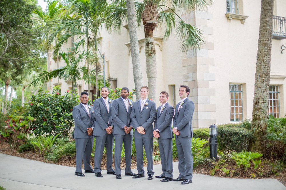 Powel Crosley Estate | Wedding | Pink and Gold Wedding | Wedding Portraits | Groom Portraits | Groomsmen | Sarasota Weddings | Spring Wedding | Jess Anne Photography