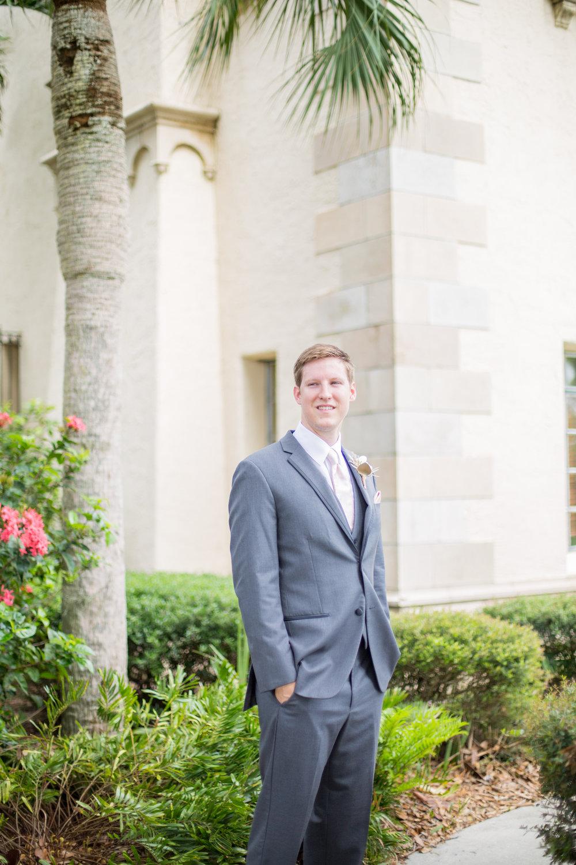Powel Crosley Estate | Wedding | Pink and Gold Wedding | Wedding Portraits| Groom Portraits| Sarasota Weddings | Spring Wedding | Jess Anne Photography