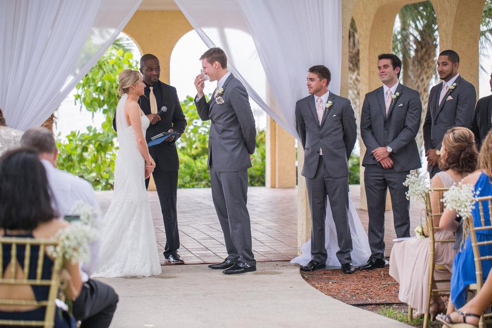 Powel Crosley Estate | Wedding | Pink and Gold Wedding | Wedding Ceremony| Sarasota Weddings | Spring Wedding | Jess Anne Photography