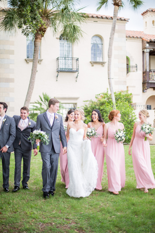 Powel Crosley Estate | Wedding | Pink and Gold Wedding | Wedding Portraits| Wedding Party | Sarasota Weddings | Spring Wedding | Jess Anne Photography