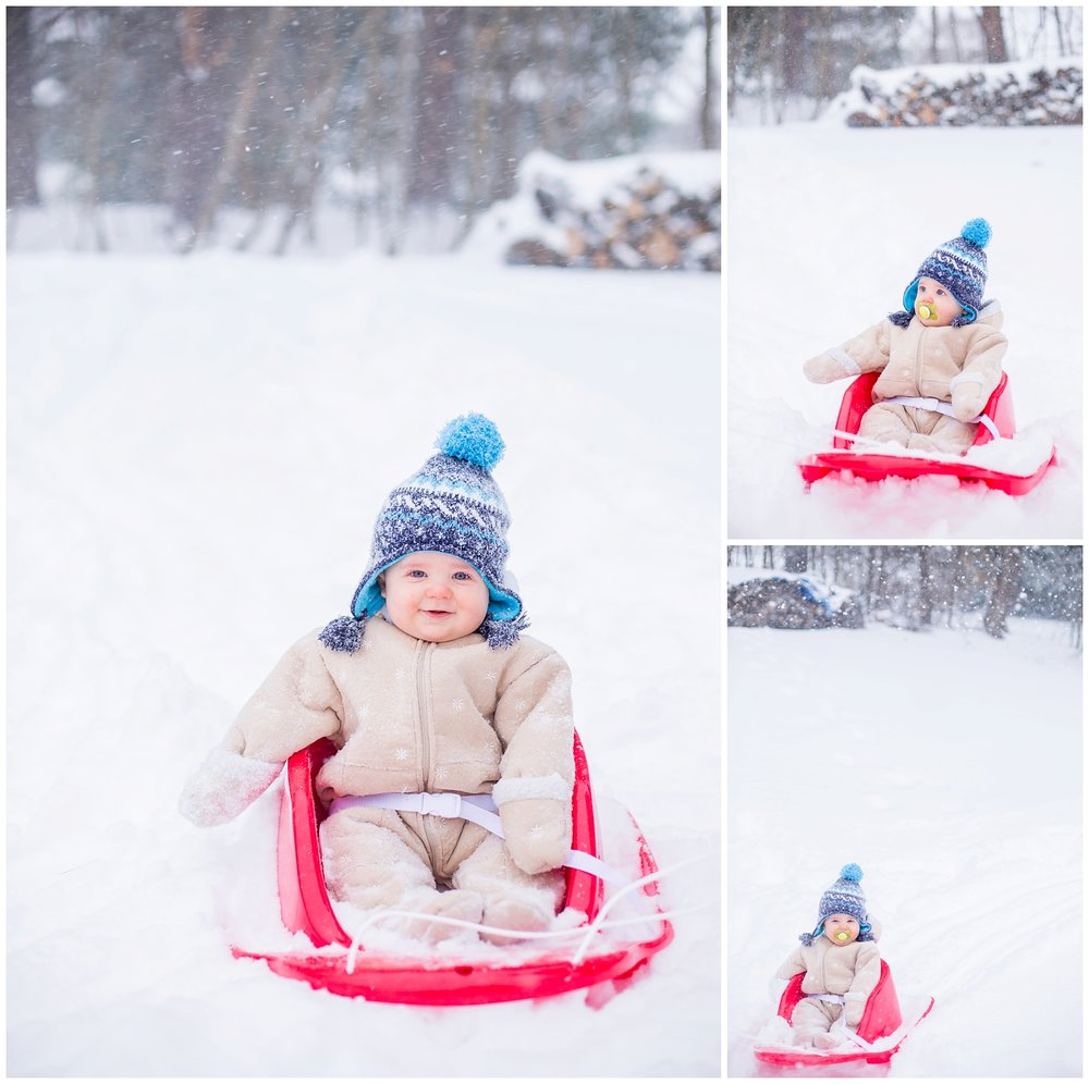 Snow day's are a blast when you have a cute nephew to take pictures of!!!