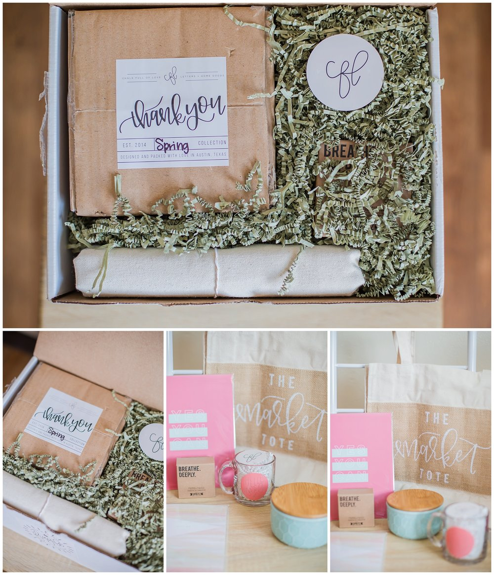 Chalk Full of Love- Spring Surprise Box. Seriously, look at all these fun goodies that come in it!!
