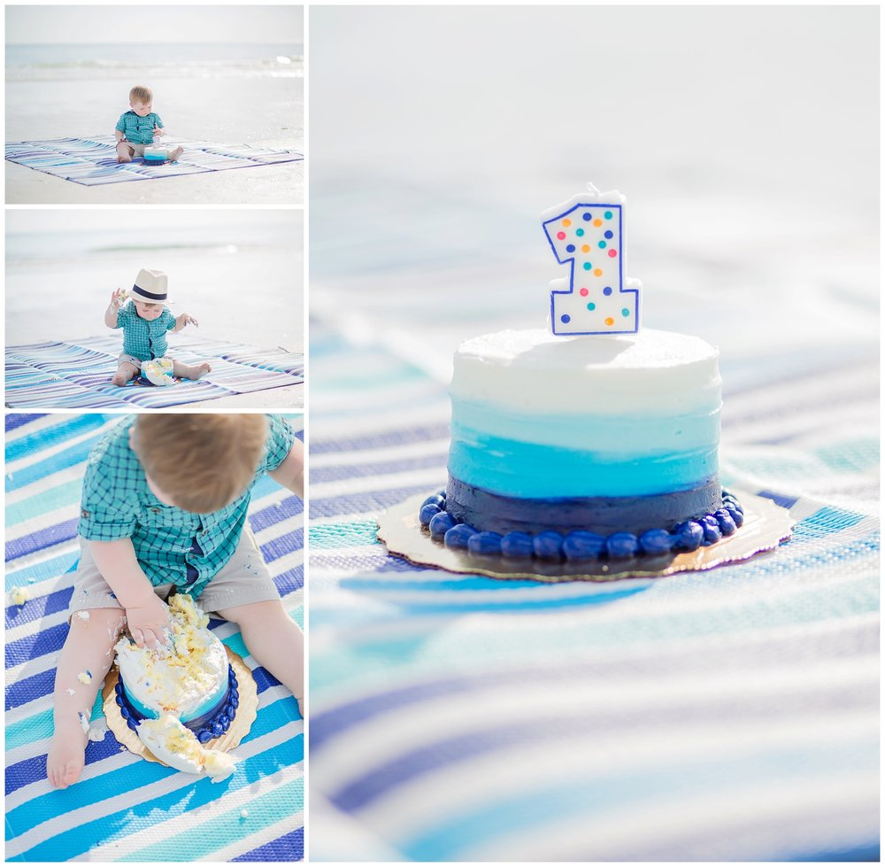 Happy 1st Birthday Logan!! Oh my goodness, I cannot believe my nephew turned ONE! The time flew right by! I was so excited his birthday was just a few days before his trip to Florida, so that we could do a birthday cake smash!! It was safe to say he LOVED it!!