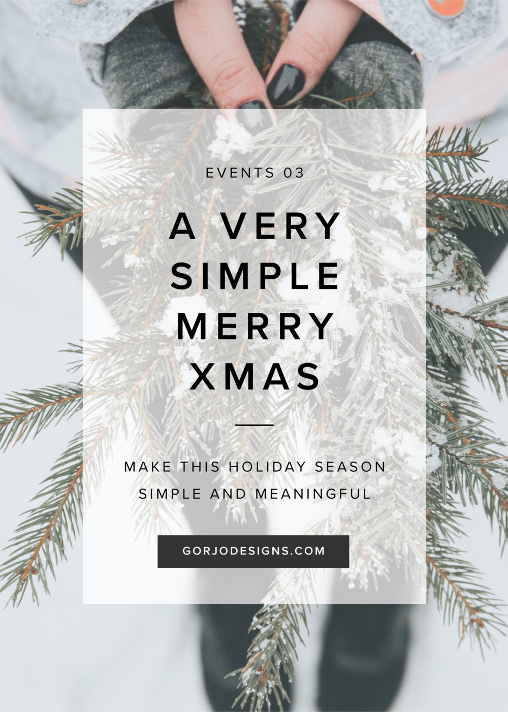 A very simple merry Christmas | Gorjo Designs Blog