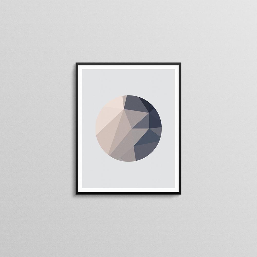 SMALL_Pink and Grey Abstract Circle Poster 1 mockup.png