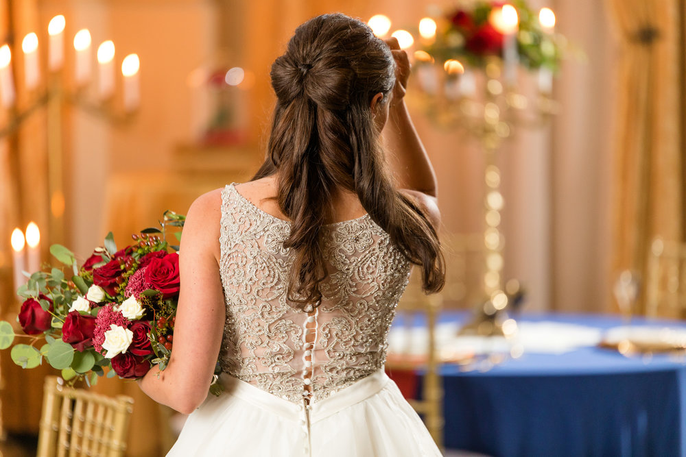 Beauty and the Beast Wedding Hair - Better Together Photography