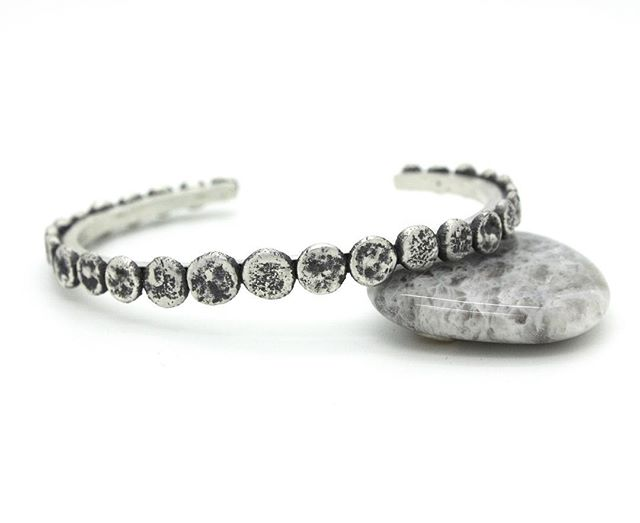 Oxidized silver beach stone cuff for @oceanlovedesigns ! I made one of these months ago and have been wearing it ever since...I'm planning on having these available for all of you ladies who have been asking about them this spring!