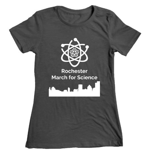 Click to head over to our bonfire.com online store. All proceeds from shirt and hoodie sales go directly to funding our march and celebration of science in Rochester.