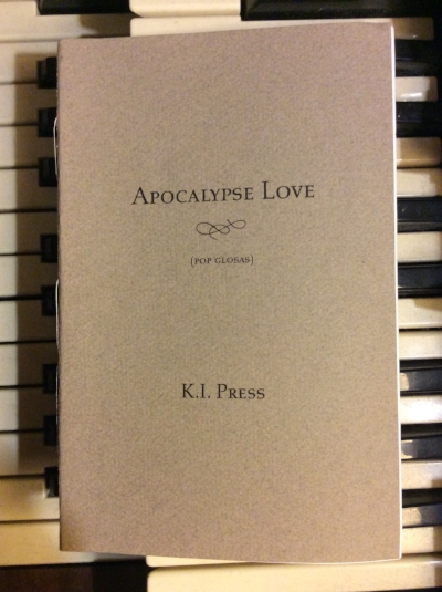 """Apocalypse Love"" chapbook I made myself in an edition of 25 copies in 2001."