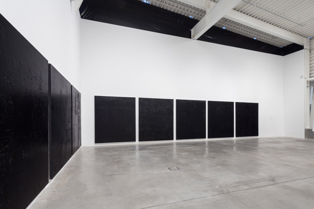 Morris and Helen Belkin Art Gallery, 2017. Untitled black pigment paintings (3.-10.PBk9.CI77267/PBk11.Fe3O4) The Frequency10. series.