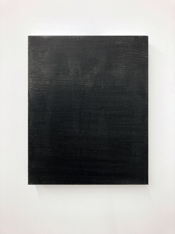 "Small black painting 3. Oil on canvas, 14x11"", 2018."