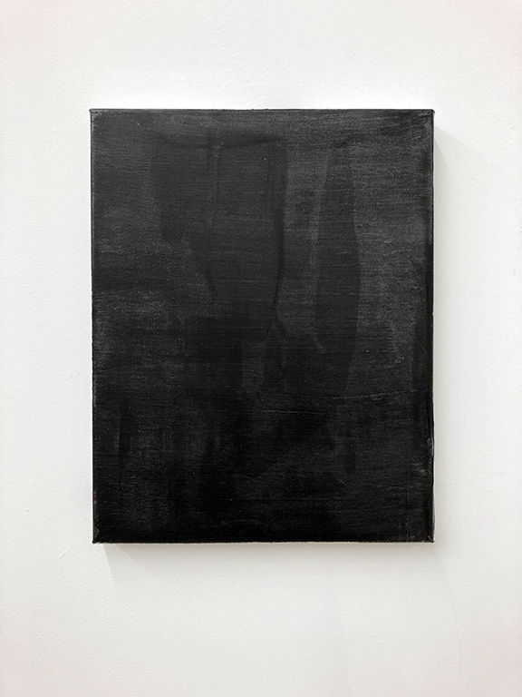 "Small black painting 4. Oil on canvas, 14x11"", 2018."