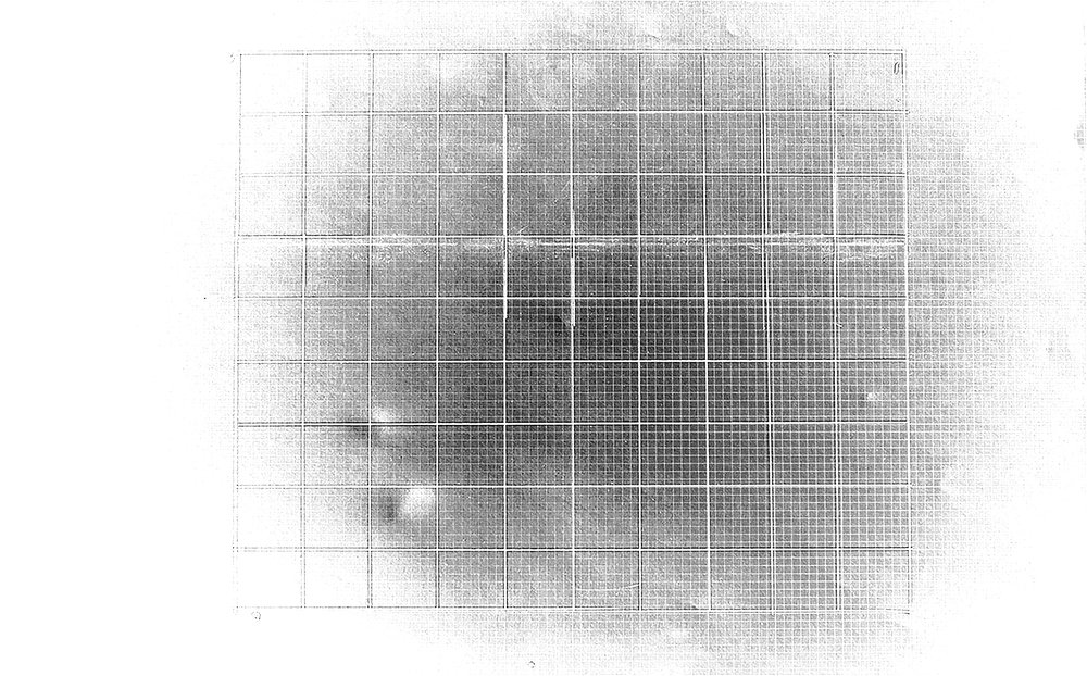 """Geometric drawing 1. Grid formation. Pencil on paper, 11x17"""", 2017."""