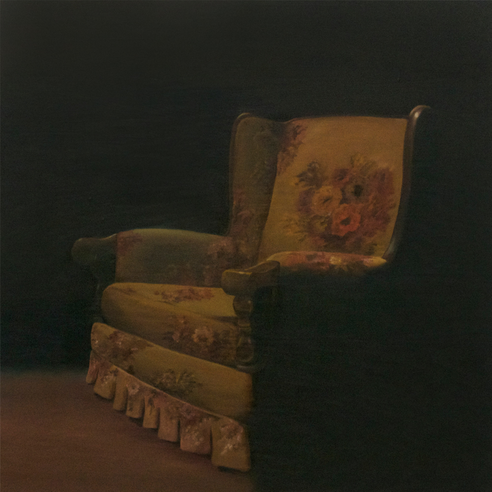 Chair , 2015  Oil on Panel, 36 x 36 inches