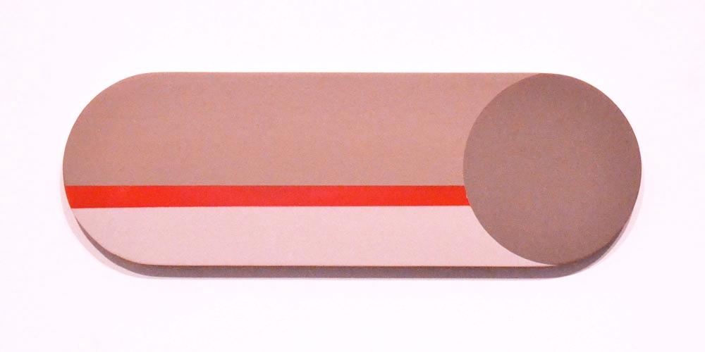Flight , 2017  Acrylic on Wood, 30 x 10 inches