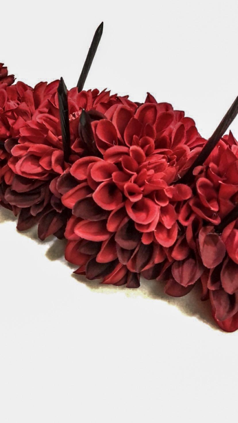 Red flower crown tumblr topsimages diy flower crown for saints international style week jpg 828x1472 red flower crown tumblr izmirmasajfo