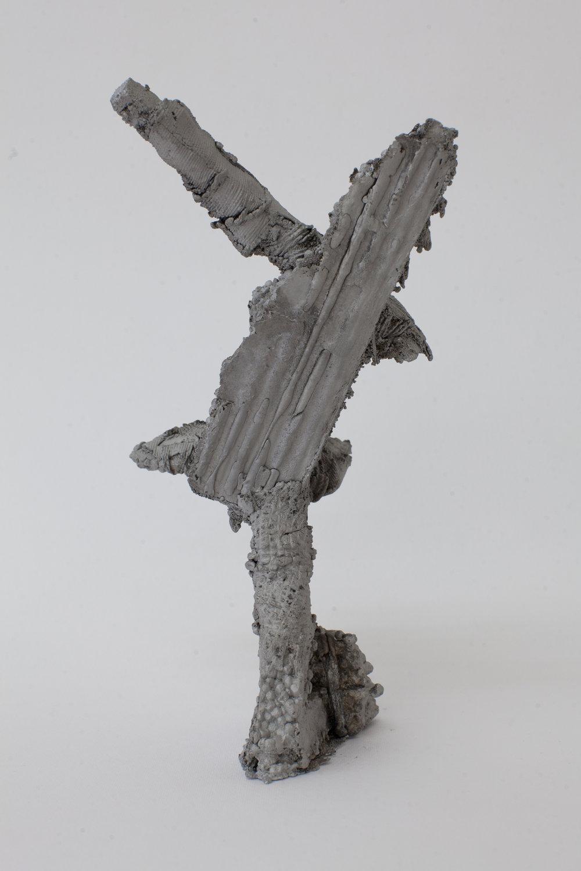 Remnant # 7   cast aluminium  24.5 x 12 x 12 cm  Photograph Alycia Bennett