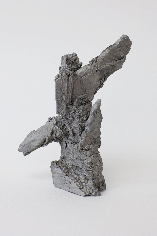 Remnant # 1   cast aluminium  18 x 11.5 x 12 cm  Photograph Alycia Bennett