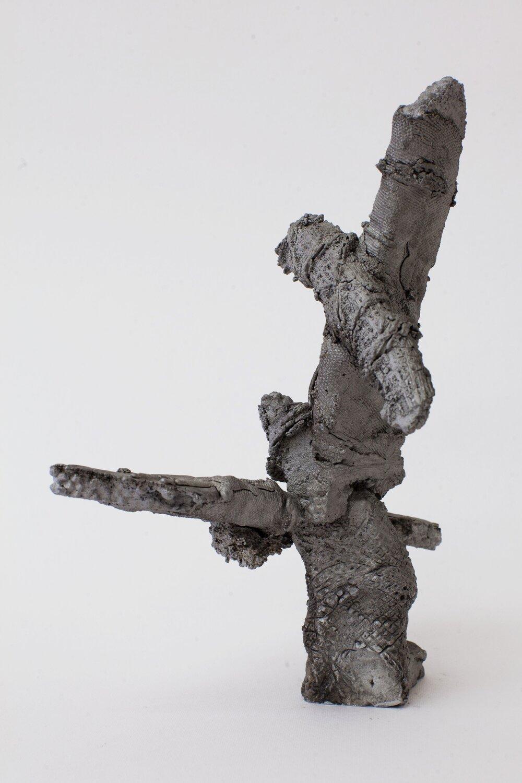Remnant # 4   cast aluminium  23.5 x 13 x 16 cm  Photograph Alycia Bennett