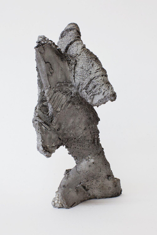 Remnant # 8   cast aluminium  20.5 x 17 x 12.5 cm  Photograph Alycia Bennett