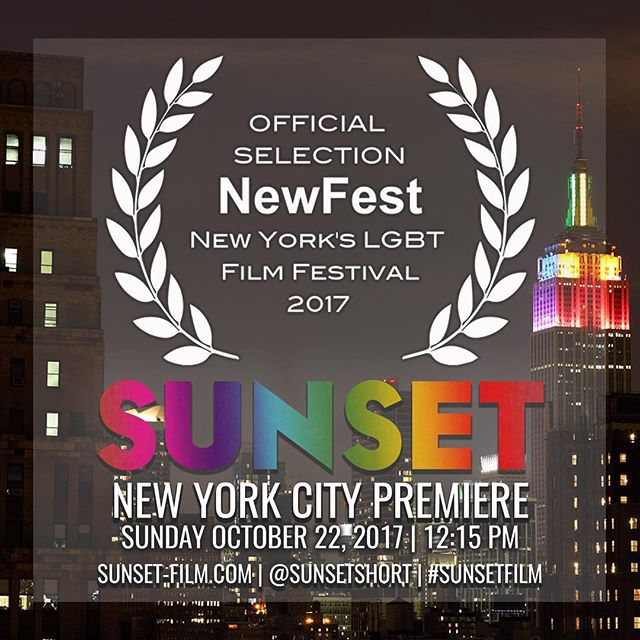 "#SunsetFilm is coming home to NYC in style at #NewFest. We'll screen on Sunday, October 22nd at 12:15pm at Cinepolis Chelsea, as part of the ""Military Shorts"" program.  Tickets go on sale for NewFest members 9/21, then for everyone else 9/26! #LGBTfilm #lgbt #lgbtpride #nycpremiere #BandOfOthers #sunsetshort #gaysinfilm #womeninfilm #supportindiefilm #filmfestival #shortfilm @niccolowalsh @greensuedezaddy @kennis115 @garysjaffe @skylarlandsee @somejustincox @monamayi @lungcavityatf @sebastianlrfilm @brookslockwood @rozehannah @soeasytofind @marko_paolo @jesseflaitz"
