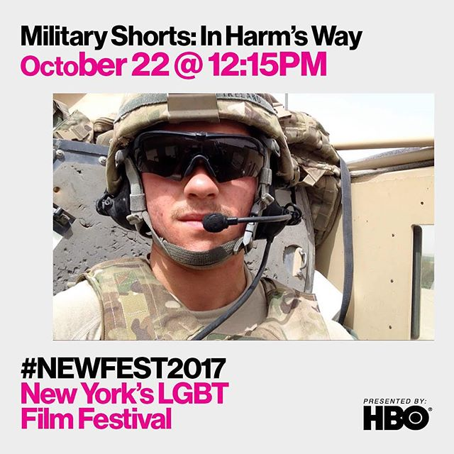 Join us THIS SUNDAY in NYC for Military Shorts: In Harm's Way at @newfest. @sunsetshort will be screening with a number of other great shorts. Don't miss it! #sunsetfilm #gaysinfilm #sunsetshort #BandOfOthers #womeninfilm #lgbtfilm #lgbtpride #LGBTmilitary #filmnyc #filmfestival #TransMilitary #actornyc #filmmaker #filmmaking #shortfilm #NewFest2017