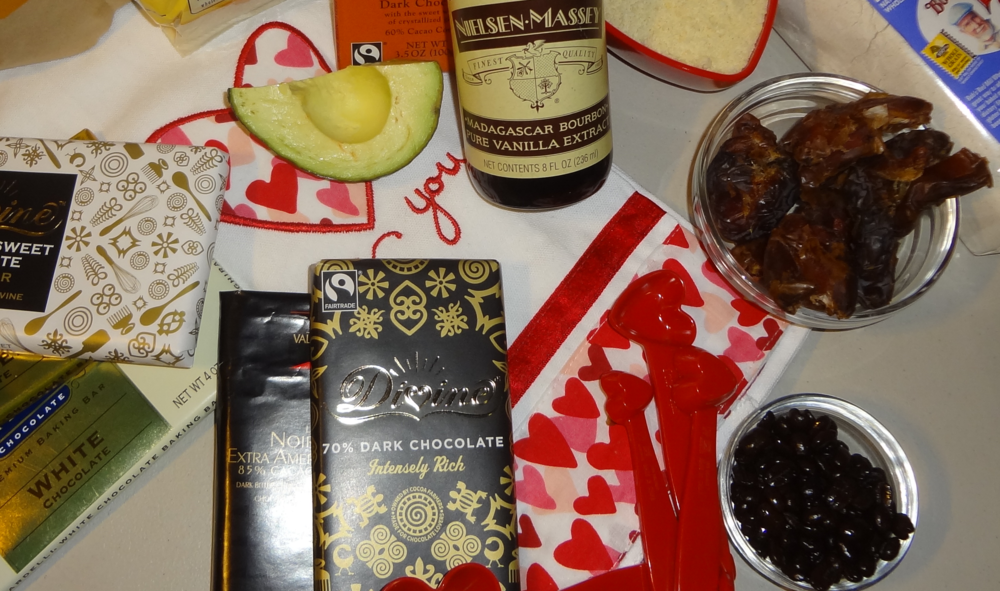 Divine 70 cacao chocolate neilsen massey vanilla avocado