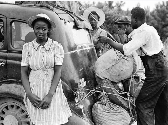 Black people with car 1930s or 40s