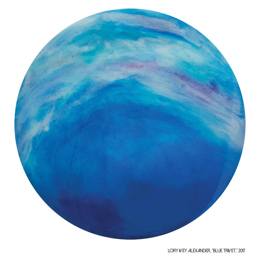 Blue Trivet, 2017