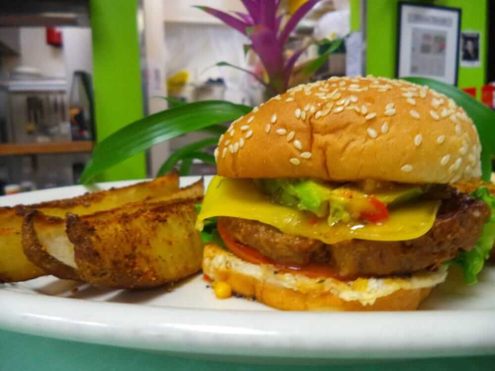Paul Marie's Vegan Burger with Avocado and Yole Spicy Sauce.jpg