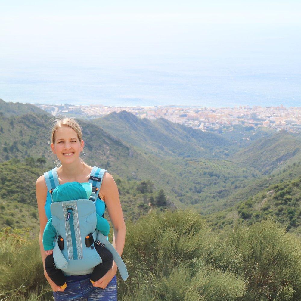 Heta ja viisikuukautinen Eeli viihtyvät tien päällä, tällä kertaa Espanjassa.