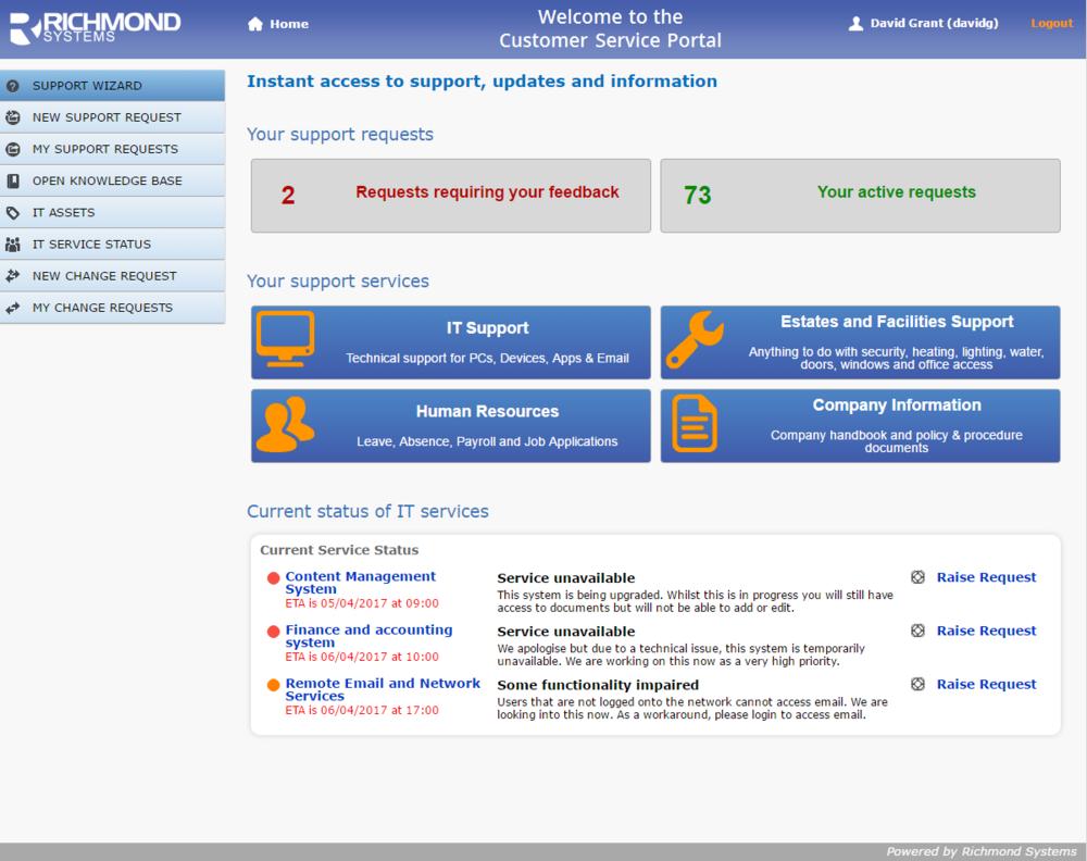 Workflow homepage
