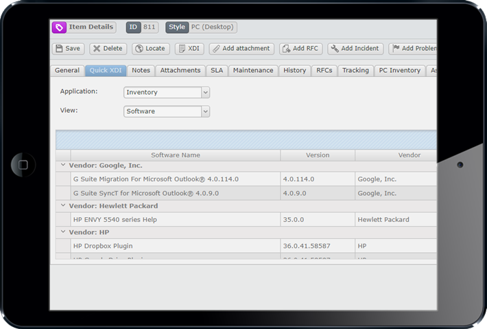 Access multiple data sources through one screen -