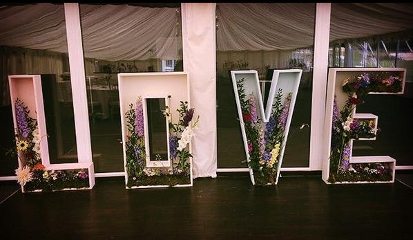 Floral Love Letters Bedfordshire