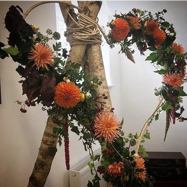 Rustic wedding floral arrangements Hertfordshire