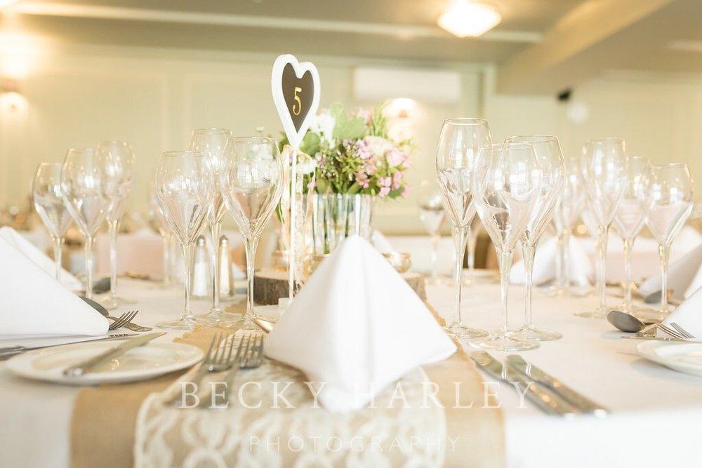 Wedding venue styling table decor Hartfordshire