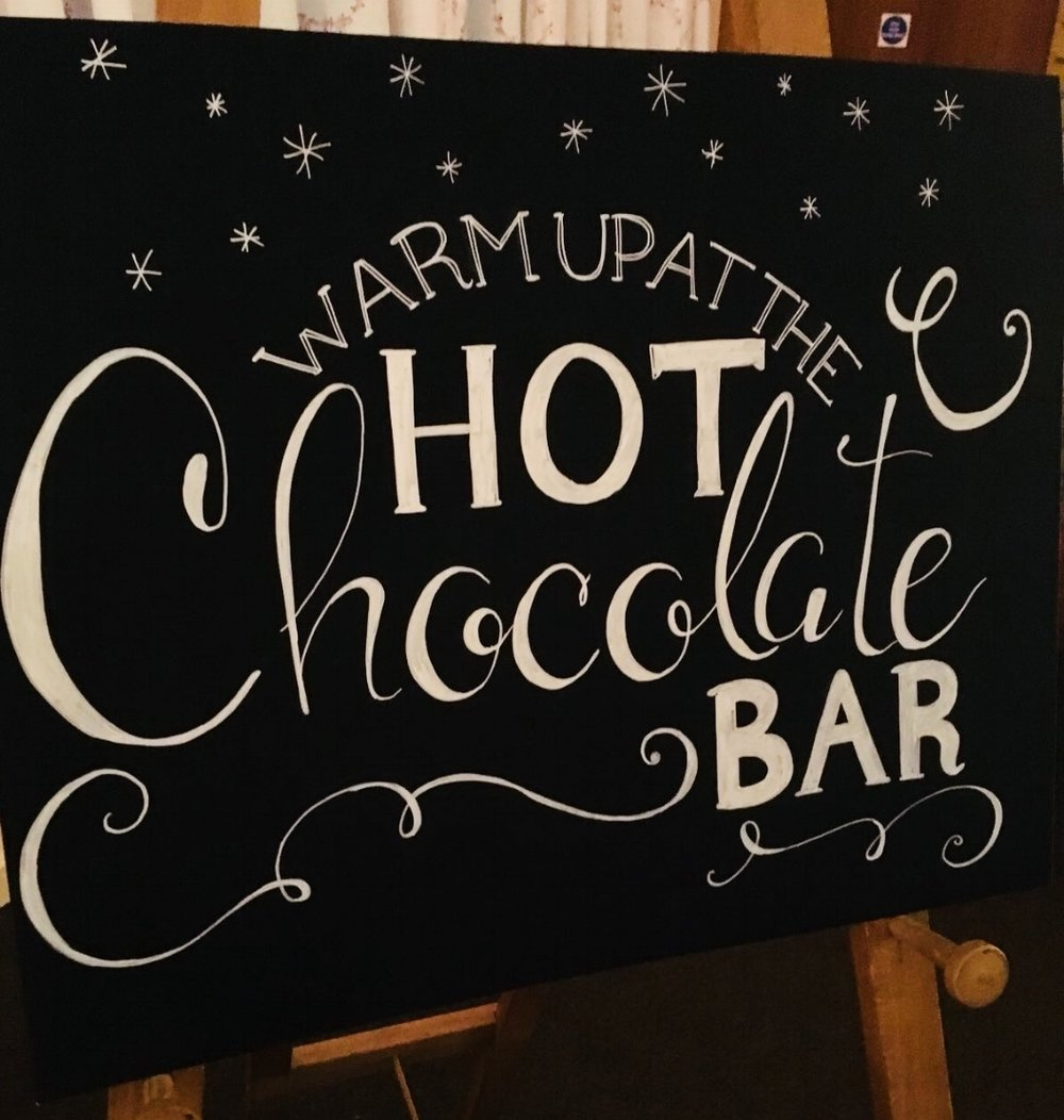 Wedding hot chocolate bar Bedfordshire