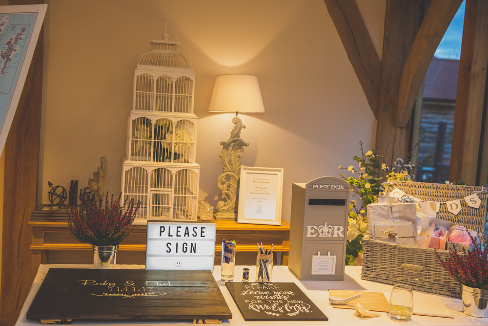 Wedding Guest Book Table Cambridgeshire