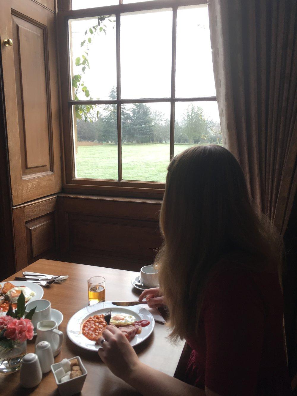 Chicheley Hall breakfast